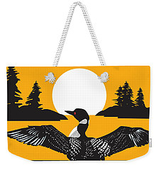 Orange Loon Weekender Tote Bag by Derrick Higgins