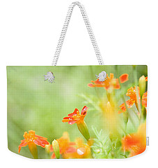 Orange Meadow Weekender Tote Bag