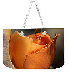 Weekender Tote Bag featuring the photograph Orange Mood by Joy Watson