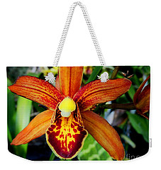 Orange Orchid Weekender Tote Bag