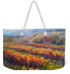 Orange Red Vines Weekender Tote Bag