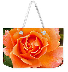 Weekender Tote Bag featuring the photograph Orange Rose Lillian by Dee Dee  Whittle