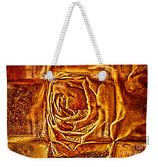 Weekender Tote Bag featuring the photograph Orange Rose by Omaste Witkowski