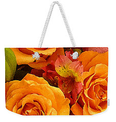 Orange Roses Weekender Tote Bag