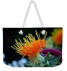 Orange Safflower Weekender Tote Bag