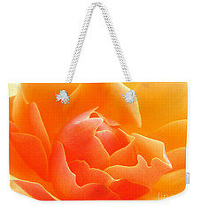 Weekender Tote Bag featuring the photograph Orange Sherbet by Deb Halloran