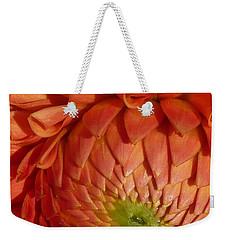 Weekender Tote Bag featuring the photograph Orange Sherbet Delight Dahlia by Susan Garren
