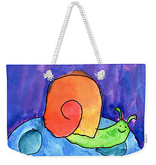 Orange Snail Weekender Tote Bag