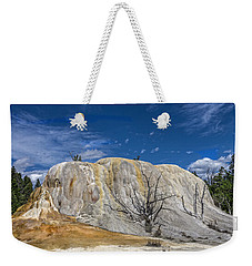 Orange Spring Mound Yellowstone National Park Weekender Tote Bag by James Hammond