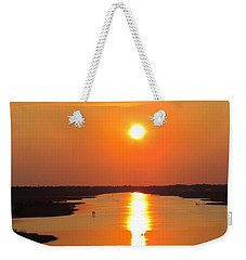 Weekender Tote Bag featuring the photograph Orange Sunset by Cynthia Guinn