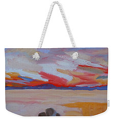 Orange Sunset Weekender Tote Bag