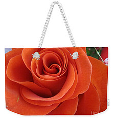 Orange Twist Rose 2 Weekender Tote Bag