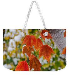 Orange White And Green Weekender Tote Bag