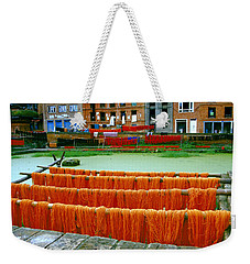 Orange Yarn Weekender Tote Bag