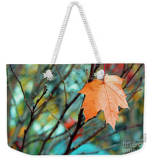 Orange You Gonna Fall Weekender Tote Bag by Nina Silver
