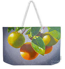 Oranges Weekender Tote Bag by Carey Chen