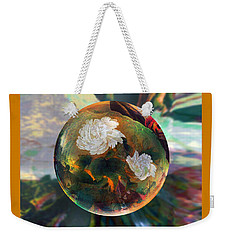 Weekender Tote Bag featuring the painting Oriental Abstract  by Robin Moline
