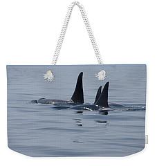 Orca Family Weekender Tote Bag by Marilyn Wilson