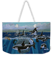 Orca Play Re009 Weekender Tote Bag by Carey Chen