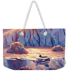 Orca Sunrise At The Glacier Weekender Tote Bag