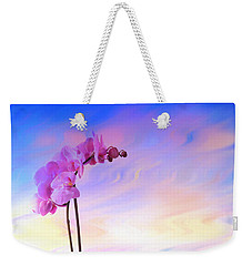 Orchid In Blue Weekender Tote Bag