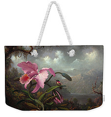 Orchid And Hummingbir Weekender Tote Bag by Martin Johnson Heade