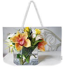 Orchid Bouquet Weekender Tote Bag by Irina Sztukowski