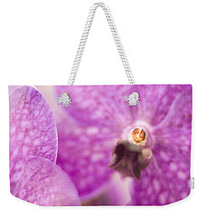 Weekender Tote Bag featuring the photograph Orchid by Bradley R Youngberg
