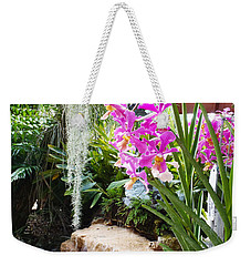 Orchid Garden Weekender Tote Bag by Carey Chen