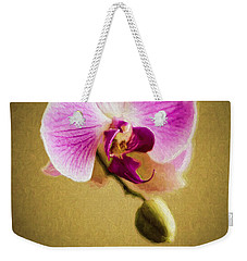 Orchid In Digital Oil Weekender Tote Bag