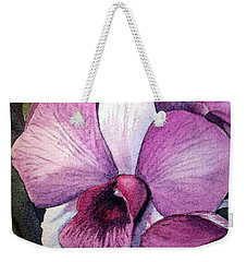 Orchid Weekender Tote Bag by Irina Sztukowski