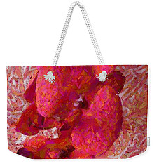 Orchid On Fabric Weekender Tote Bag