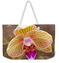 Orchid On Marble Weekender Tote Bag