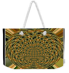 Weekender Tote Bag featuring the photograph Orchid Polar Coordinate by Rose Santuci-Sofranko