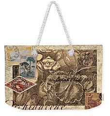 Orchidaceae Postcard Weekender Tote Bag by Carol Leigh