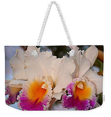 Weekender Tote Bag featuring the photograph Orchid Elsie Sloan by The Art of Alice Terrill