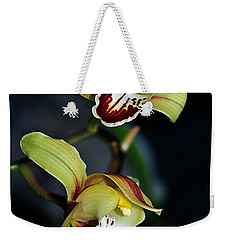 Orchids In The Evening Weekender Tote Bag by Kaye Menner