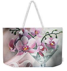 Orchids Weekender Tote Bag by Vesna Martinjak