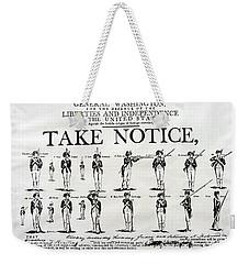 Order Of Battle - Take Notice Brave Men Weekender Tote Bag