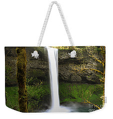 Oregon Waterfall Woodland Weekender Tote Bag by Andrea Hazel Ihlefeld