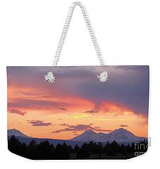 Oregon's Three Sisters  Weekender Tote Bag