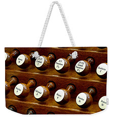 Organ Stop Knobs Weekender Tote Bag