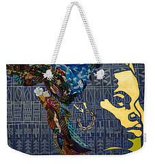 Weekender Tote Bag featuring the tapestry - textile Ori Dreams Of Home by Apanaki Temitayo M