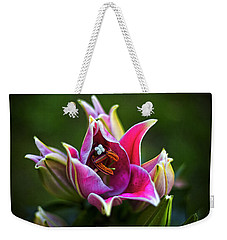 Weekender Tote Bag featuring the photograph Oriental Day Lily by Ben Shields