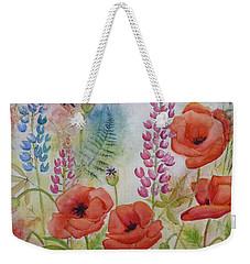 Oriental Poppies Meadow Weekender Tote Bag by Carla Parris