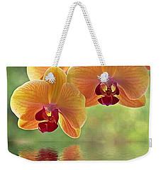 Oriental Spa - Square Weekender Tote Bag by Gill Billington
