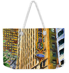 Oriental Theater Of Chicago Weekender Tote Bag by Ely Arsha