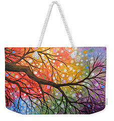 Original Abstract Painting Landscape Print ... Bursting Sky Weekender Tote Bag