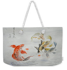 Original Animal  Oil Painting Art- Goldfish Weekender Tote Bag