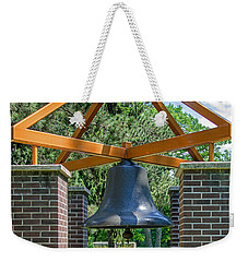 Weekender Tote Bag featuring the photograph Original Fire Bell From The Superior Fire Dept In Wisconsin  1892  by Susan  McMenamin